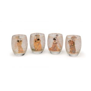 Gustav Klimt: 4 Teelichtgläser mit Künst