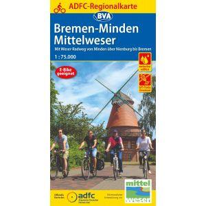 ADFC-Regionalkarte Bremen/Minden/Mittelw