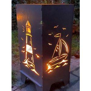 "Feuertonne 78cm ""Segelboot"""