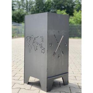 """Feuertonne 78cm """"Kompass & Welt"""""""