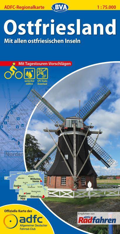 ADFC-Regionalkarte Ostfriesland