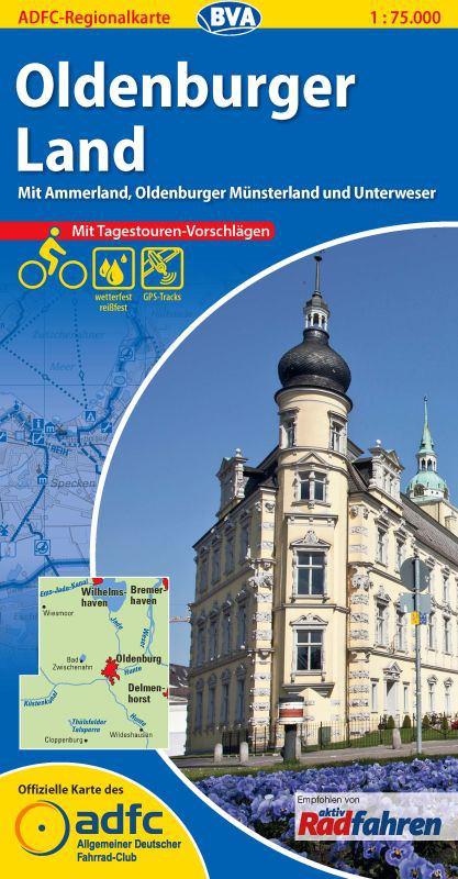 ADFC-Regionalkarte Oldenburger Land